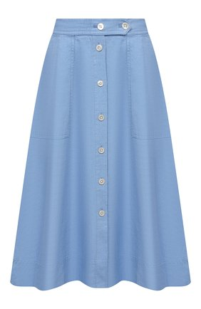 Женская льняная юбка POLO RALPH LAUREN синего цвета, арт. 211837993   Фото 1