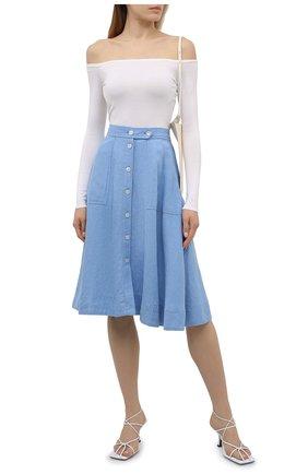 Женская льняная юбка POLO RALPH LAUREN синего цвета, арт. 211837993   Фото 2