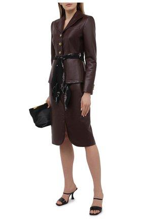 Женская кожаная юбка LANVIN бордового цвета, арт. RW-ST0109-L003-E21 | Фото 2