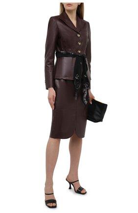 Женский кожаный жакет LANVIN бордового цвета, арт. RW-JA0117-L003-E21 | Фото 2