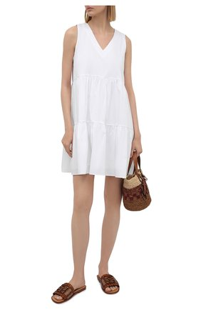 Женское хлопковое платье PIETRO BRUNELLI белого цвета, арт. AG0443/C0P319   Фото 2