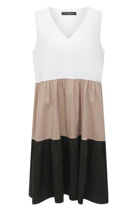 Женское хлопковое платье PIETRO BRUNELLI разноцветного цвета, арт. AG0443/C0P319/SAGR | Фото 1