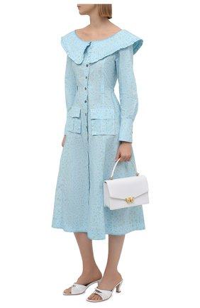 Женское хлопковое платье GANNI голубого цвета, арт. F5910 | Фото 2