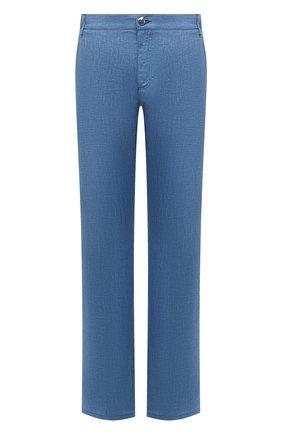 Мужские льняные брюки ZILLI SPORT синего цвета, арт. M0V-D0175-LIN01/R001   Фото 1