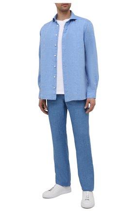 Мужские льняные брюки ZILLI SPORT синего цвета, арт. M0V-D0175-LIN01/R001   Фото 2