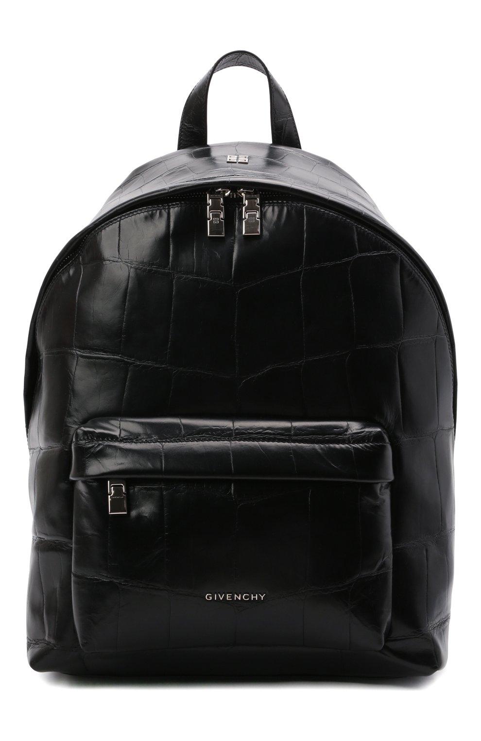 Мужской кожаный рюкзак GIVENCHY черного цвета, арт. BK508AK15H   Фото 1