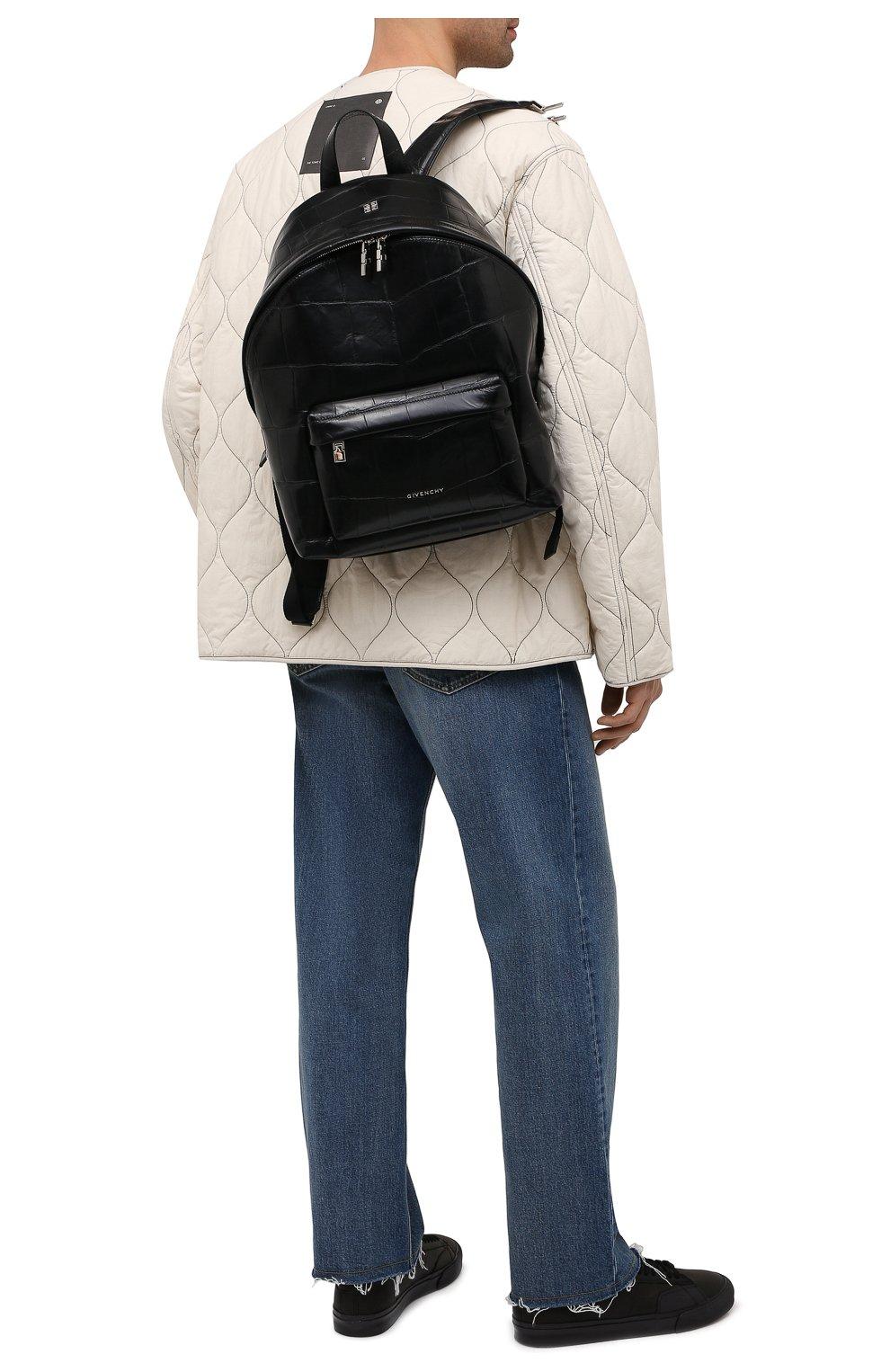 Мужской кожаный рюкзак GIVENCHY черного цвета, арт. BK508AK15H   Фото 2