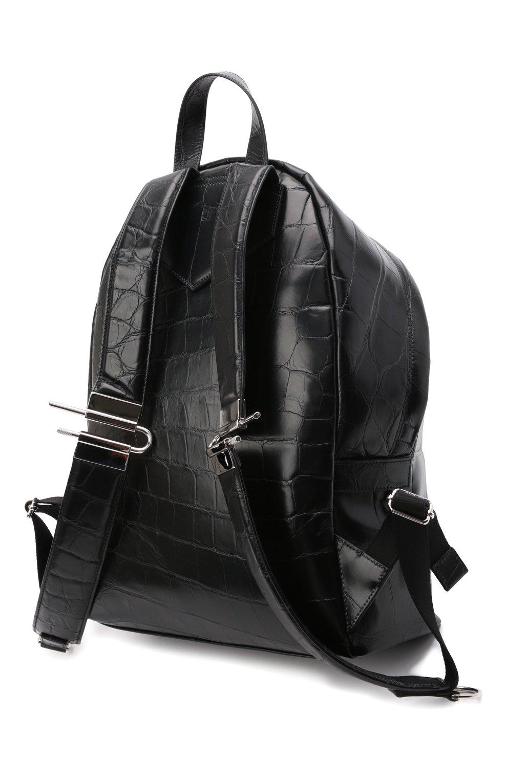 Мужской кожаный рюкзак GIVENCHY черного цвета, арт. BK508AK15H   Фото 3