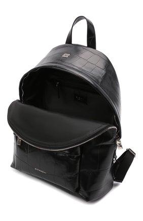 Мужской кожаный рюкзак GIVENCHY черного цвета, арт. BK508AK15H   Фото 4