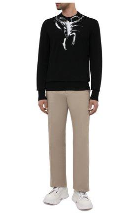 Мужской хлопковый свитер GIVENCHY черного цвета, арт. BM90FZ4Y67 | Фото 2