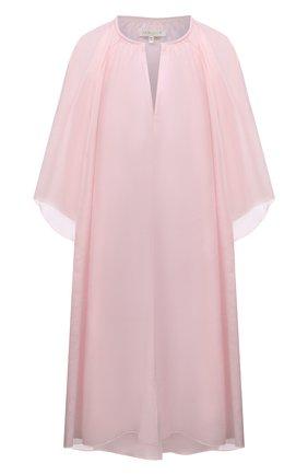 Женская туника из хлопка и шелка LILA EUGENIE розового цвета, арт. 2100 MINI | Фото 1