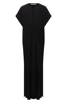 Женское платье из вискозы LILA EUGENIE черного цвета, арт. 2110 | Фото 1