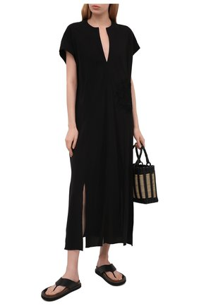 Женское платье из вискозы LILA EUGENIE черного цвета, арт. 2110 | Фото 2