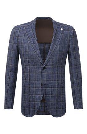 Мужской пиджак из шерсти и шелка L.B.M. 1911 синего цвета, арт. 2411/12552 | Фото 1