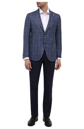 Мужской пиджак из шерсти и шелка L.B.M. 1911 синего цвета, арт. 2411/12552 | Фото 2