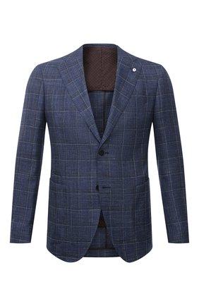 Мужской пиджак из шерсти и шелка L.B.M. 1911 синего цвета, арт. 2411/12564 | Фото 1