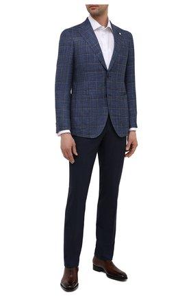 Мужской пиджак из шерсти и шелка L.B.M. 1911 синего цвета, арт. 2411/12564 | Фото 2