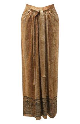 Женская юбка из вискозы PACO RABANNE золотого цвета, арт. 21EJJU203VI0270 | Фото 1