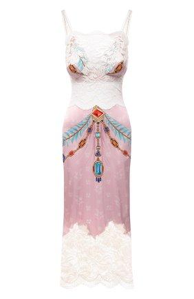 Женское платье из вискозы PACO RABANNE розового цвета, арт. 21EJR0340VI0269 | Фото 1