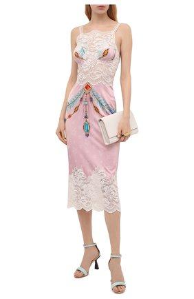 Женское платье из вискозы PACO RABANNE розового цвета, арт. 21EJR0340VI0269 | Фото 2