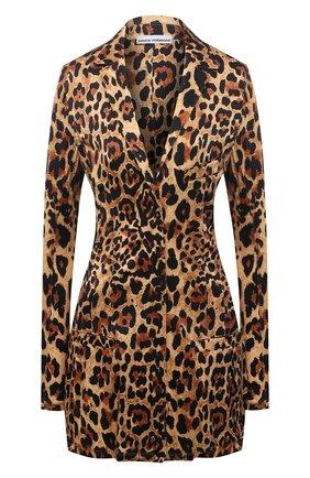 Женский жакет из вискозы PACO RABANNE леопардового цвета, арт. 21EJVE095VI0231 | Фото 1