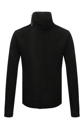 Мужская кожаная куртка ISAAC SELLAM черного цвета, арт. IMPARABLE-STRETCH H22   Фото 1
