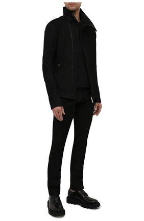 Мужская кожаная куртка ISAAC SELLAM черного цвета, арт. IMPARABLE-STRETCH H22   Фото 2