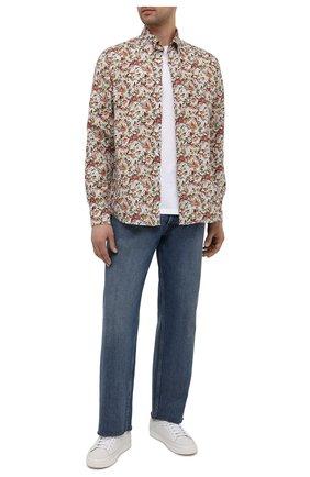 Мужская льняная рубашка ETON разноцветного цвета, арт. 1000 02090 | Фото 2