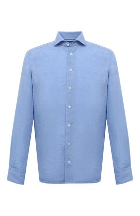 Мужская льняная рубашка ETON синего цвета, арт. 1000 02181 | Фото 1
