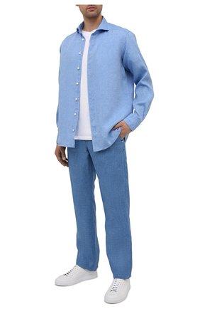Мужская льняная рубашка ETON синего цвета, арт. 1000 02181 | Фото 2