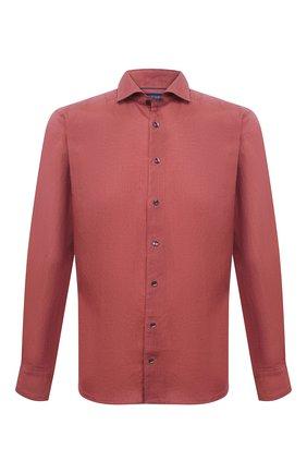 Мужская льняная рубашка ETON красного цвета, арт. 1000 02181 | Фото 1
