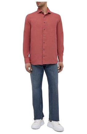 Мужская льняная рубашка ETON красного цвета, арт. 1000 02181 | Фото 2