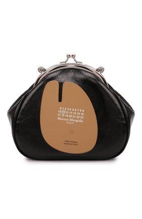 Женская сумка tabi MAISON MARGIELA черного цвета, арт. S56WG0114/PS298 | Фото 1 (Ремень/цепочка: С цепочкой, На ремешке; Сумки-технические: Сумки через плечо; Материал: Натуральная кожа; Размер: mini)