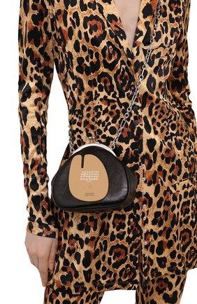 Женская сумка tabi MAISON MARGIELA черного цвета, арт. S56WG0114/PS298 | Фото 2 (Ремень/цепочка: С цепочкой, На ремешке; Сумки-технические: Сумки через плечо; Материал: Натуральная кожа; Размер: mini)