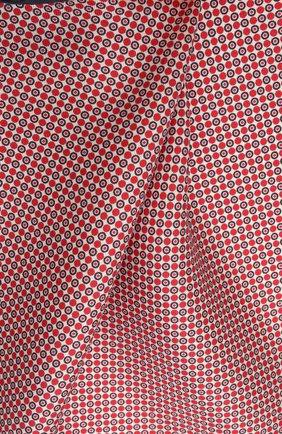 Мужской шелковый платок BOSS красного цвета, арт. 50454931 | Фото 2