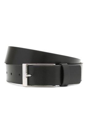 Мужской кожаный ремень HUGO черного цвета, арт. 50454900   Фото 1