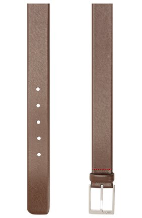 Мужской кожаный ремень HUGO темно-коричневого цвета, арт. 50385627 | Фото 2