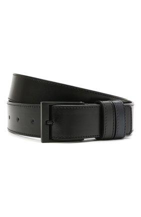 Мужской кожаный ремень HUGO черного цвета, арт. 50452269 | Фото 1 (Случай: Формальный)