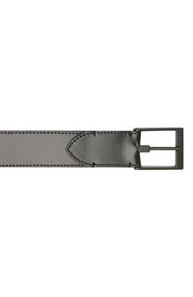 Мужской кожаный ремень HUGO черного цвета, арт. 50452269 | Фото 3 (Случай: Формальный)