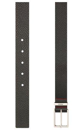 Мужской кожаный ремень HUGO черного цвета, арт. 50454918 | Фото 2 (Случай: Формальный)