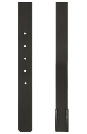 Мужской кожаный ремень HUGO черного цвета, арт. 50434608   Фото 2