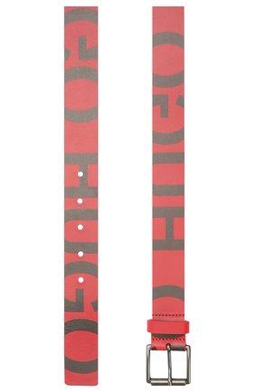 Мужской кожаный ремень HUGO красного цвета, арт. 50455982 | Фото 2