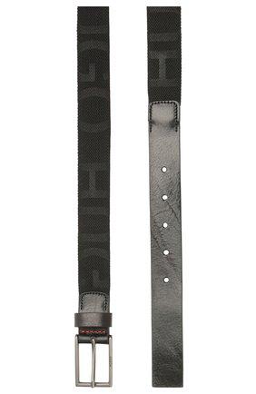 Мужской комбинированный ремень HUGO черного цвета, арт. 50418977 | Фото 2