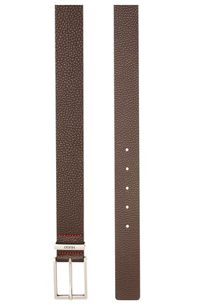 Мужской кожаный ремень HUGO темно-коричневого цвета, арт. 50454918 | Фото 2