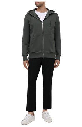 Мужской хлопковая толстовка BOSS темно-зеленого цвета, арт. 50449067   Фото 2 (Мужское Кросс-КТ: Толстовка-одежда; Длина (для топов): Стандартные; Материал внешний: Хлопок; Рукава: Длинные; Стили: Спорт-шик)