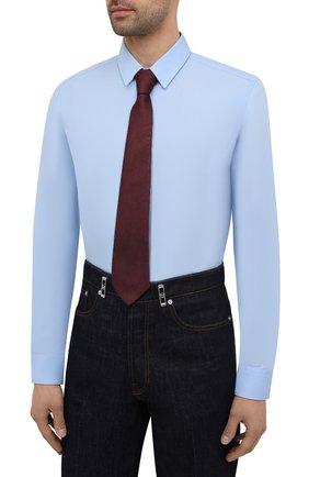 Мужская хлопковая сорочка HUGO голубого цвета, арт. 50450147 | Фото 4