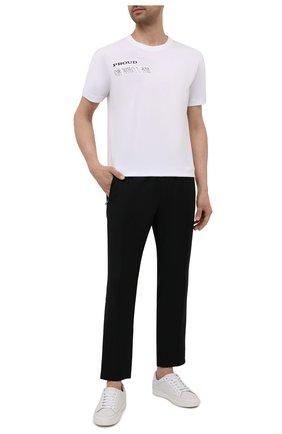 Мужская хлопковая футболка HUGO белого цвета, арт. 50460027 | Фото 2