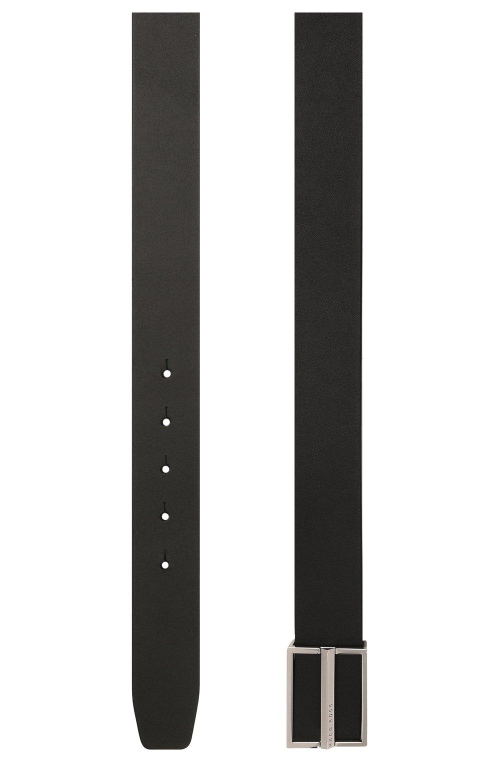 Мужской кожаный ремень BOSS черного цвета, арт. 50435223 | Фото 2