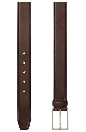 Мужской кожаный ремень BOSS темно-коричневого цвета, арт. 50455085 | Фото 2