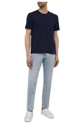 Мужская хлопковая футболка ASPESI темно-синего цвета, арт. S1 A 3107 C089 | Фото 2